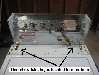 whirlpool washing machine lid switch bypass