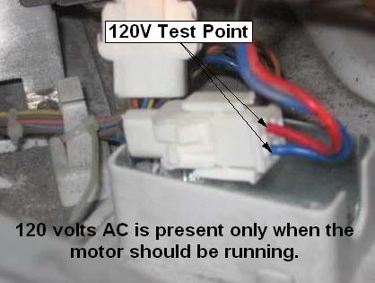 GE front load washer inverter test