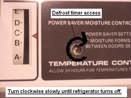Defrost timer locatio