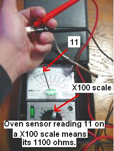 testing oven sensor