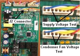 Ge refrigerator fan motor diagnostics condenser fan motor capacitor wiring if the compressor is running but the fan isn\u0027t more than likely the fan is bad but it could be the board leave all plugs connected even the j2 plug at