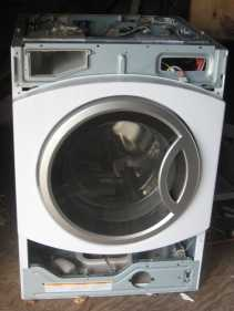 Frontload washer with panels removed