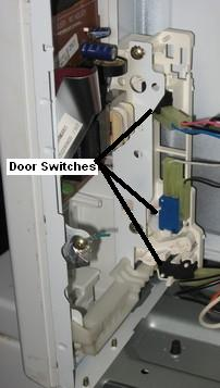 These Switches Often Go Bad And Are An Easy Do It Yourself Microwave Repair The Monitor Is Almost Always In Middle Other Two Vary From Model To