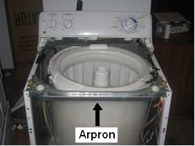 GE washer arpron