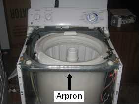 GE washer arpron