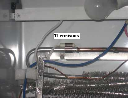 ge refrigerator repair guide on some ge refrigerators the thermistors are behind a cover such as the one below this is especially true for the fresh food thermistors