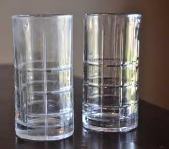A White Film Glass Vs A Clear Glass