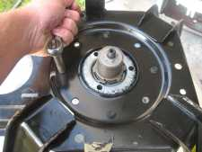 Remove the screws on the transmission