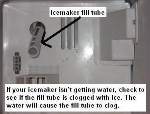 Icemaker fill tube
