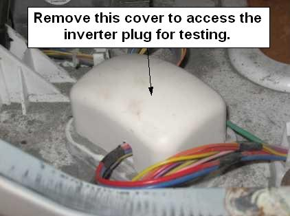 GE front load washer inverter plug cover