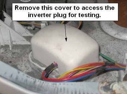 GE front load washer inverter plug cover